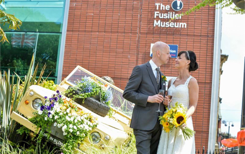 A wedding at the Fusilier Museum